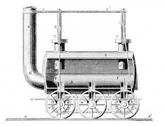 PSM V12 D281 Stephenson locomotive 1815